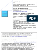 Analysis of Bullying Prevention and Intervention