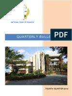 National Bank of Rwanda Quarterly Bulletin Fourth Quarter 2010
