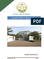 National Bank of Rwanda Quarterly Bulletin Second Quarter 2011
