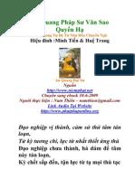 An Quang Dai Su Van Sao Quyen Ha - An Quang Dai Su - Nhu Hoa Dich