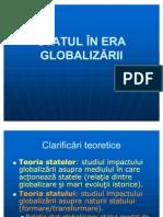 Statul in Era Globalizarii