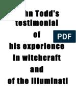 John Todd's Testimony