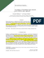 Analysis of Shear Locking in Timoshenko Beam Elements