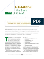 Why Did ABC Fail at the Bank of China