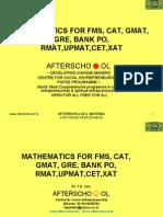 23301128 Mathematics for Fms Cat GMAT GRE Bank Po Rmat Upmat Cet Xat