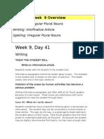 Week 9 Writing