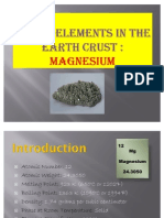 Major Elements in the Earth Crust Slide