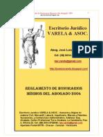 Honorarios Minimos de Abogados 2004