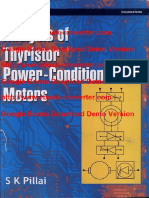 Analysis of Thyristor Power-Conditioned Motors by S.K. Pillai