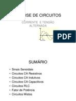 ANÁLISE DE CIRCUITOS DE CORRENTE ALTERNADA-Revisao 1