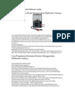 Cara Menggunakan Alat Multi Meter Analog (Dioda)