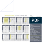 CTP123 11 Academic Calendar 2012