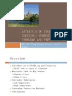 Gareth Hughes - Materials of Crude Oil Refining