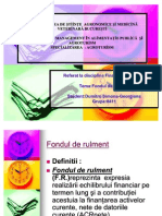 FONDUL DE RULMENT