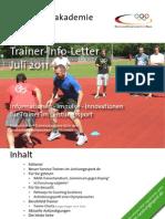 Trainer Info Letter 07 11