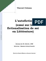 Vincent Colonna - L Auto Fiction