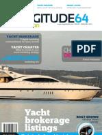 Longitude 64 MotorYachts Edition magazine January 2012 issue - Luxury Yacht Brokerage and Yacht Charter