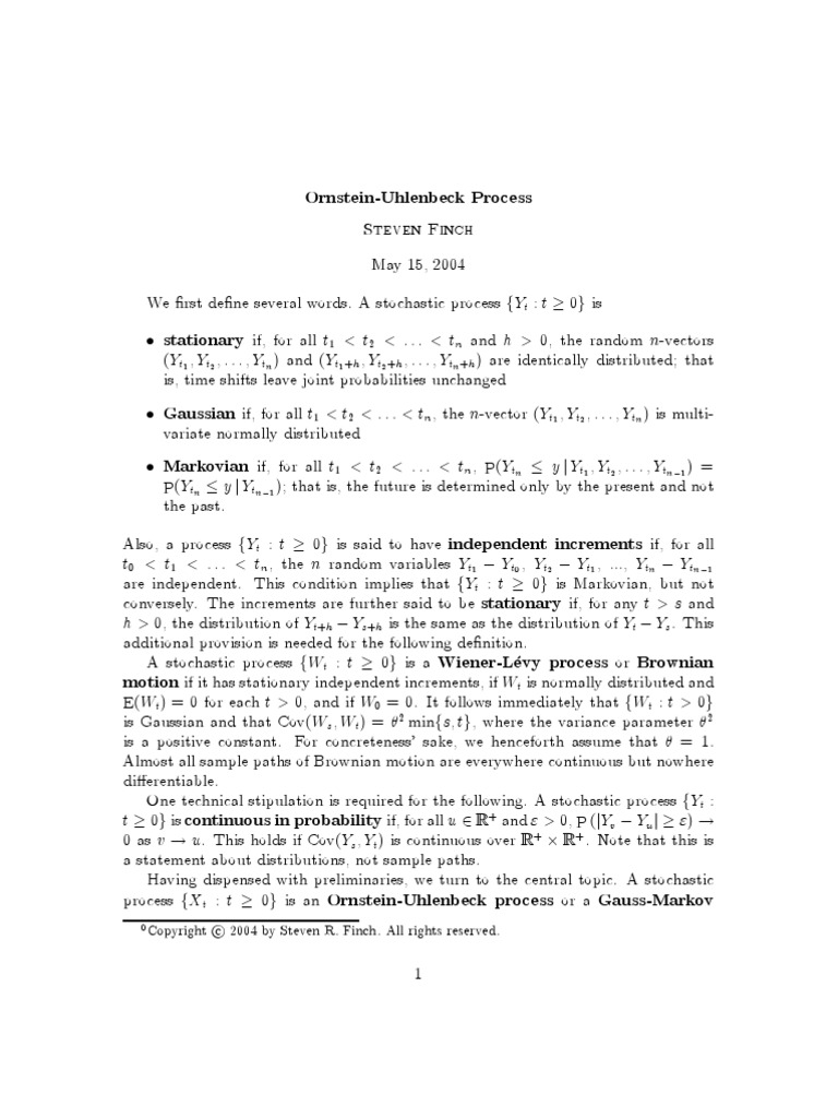 ou | Stochastic Process | Normal Distribution