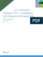 VMW Whats New vSphere41 HA