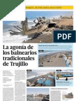 Trujillo pierde sus balnearios turísticos tradicionales.