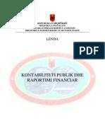 Leksionet Per Lenden Kontabiliteti Publik Dhe Raportimi Financiar Sezoni 2010 2011 1633 1