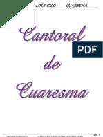 Cantoral Cuaresma 2012