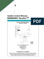 Siemens MAMMOMAT Novation DR Quality Control Manual