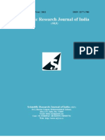 Scientific Research Journal of India SRJI Vol-1 No-1 Year 2012