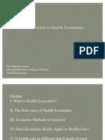 Health Economics- Lecture Ch01