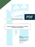 Estudio de Impacto Ambiental Modificación Puntual 6/2011 P.G.O.U.