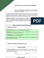 FUNCIONES DEL MINISTERIO PÚBLICO Y SU RELACIÓN CON CARABINEROS