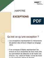 Chapitre Exceptions