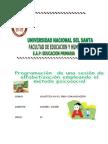 Programación  de una sesión de  alfabetización empleando el método psicosocial