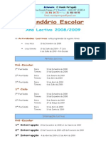 Calendário Escolar 08-09