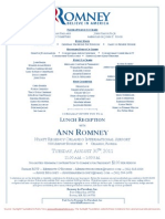 Lunch Reception for Mitt Romney