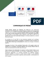 04 01 12 Communiqué  presse - circulaire diplomés étrangers