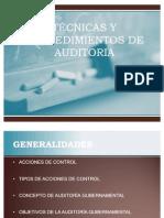 3 TÉCNICAS y procedimientos de auditoría