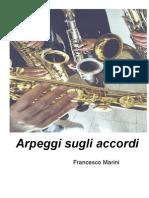 Sax Arpeggi Sassofono F.marini