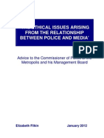 'The Ethical Issues arising from the relationship between Police and Media'