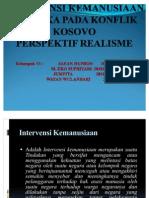 Intervensi Kemanusiaan Oleh Amerika Pada Konflik Kosovo