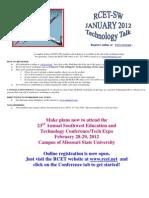 January Workshop Listing