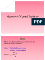 Measure of Central Tendency Session 1