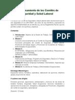 Funcionamiento de los Comités de Seguridad y Salud Laboral