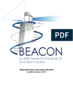 Beacon Student Post Doc Info 2012