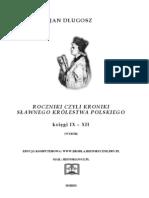 Jan Dlugosz - Roczniki IX-XII
