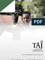 Financial Report 2006 - Taj Pharmaceuticals Group