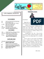 AppleTree Montessori Newsletter Nov 2011