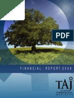 Financial Report 2009 - Taj Pharmaceuticals Group