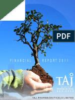 Financial Report 2011 - Taj Pharmaceuticals Group
