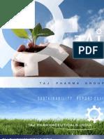 Sustainability Report 2011 - Taj Pharma India